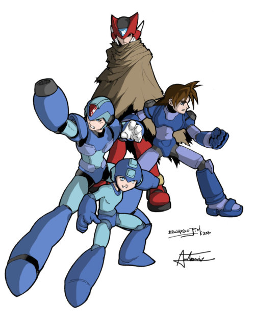reapy-k:  Megaman pin-up Colorby ~Hitokirisan