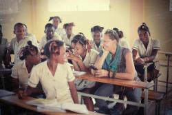 Donna Karan, connecting and collaborating with children in Haiti
