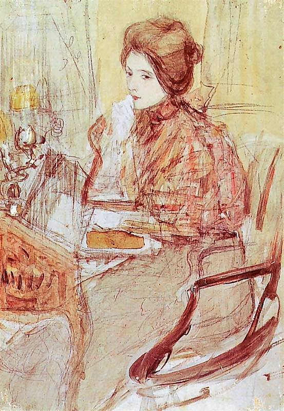 poboh:  Lady at the table, Teodor Axentowicz. Polish (1859 - 1938)