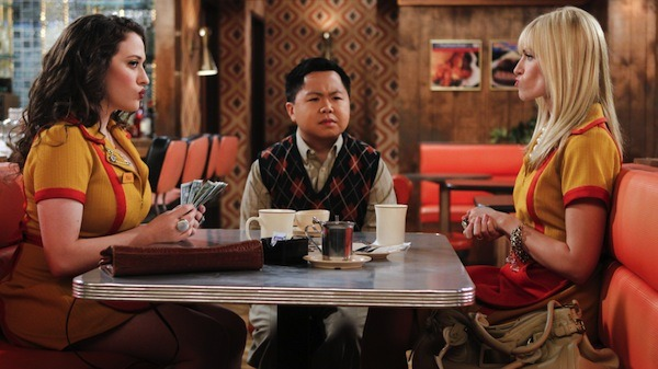 "flavorpill:   Han Lee, 2 Broke Girls In the most recent episode of this new CBS sitcom, Beth Behrs kisses an incredibly hot Asian man, played by Tim Chiou. This is all well and good, but the reason the show even hired a ""hot Asian guy"" to begin with (and they were looking specifically for someone Asian, because that'sexactly what it said on the call sheet) is because of all the flack they've gotten for the extremely racist portrayal of their other Asian character, Han, who's shown to be desperate, out of touch, and pathetic, and speaks very broken English. Sorry, guys — one cool Asian doesn't cancel out a season's worth of stereotypes.  The most racially stereotyped characters on TV right now"