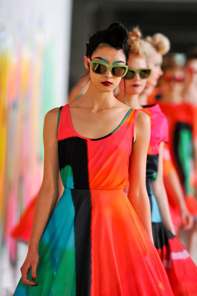 modcloth:  Loving these brightly hued colorblock looks from Manish Arora's F/W 2012 presentation at Paris Fashion Week via aclockworkpink.