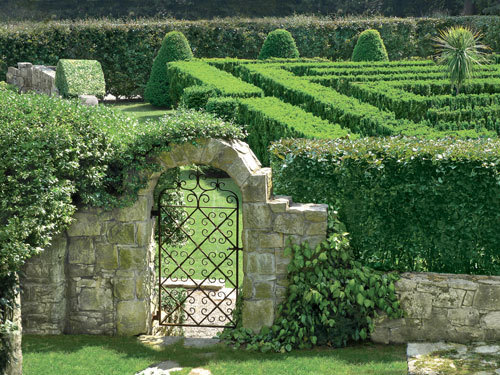 garden maze in a private estate