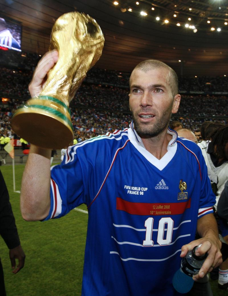 Zidane, World Cup '98 source: Le Huffington Post
