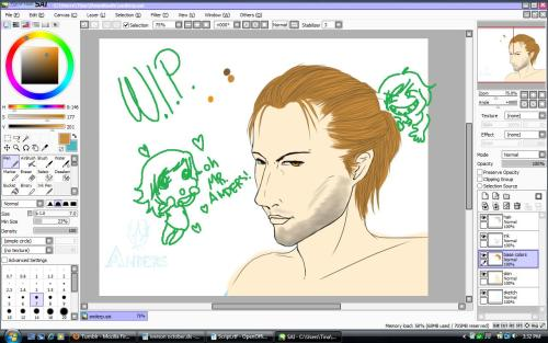 continuing progress on Anders, I refined his nose an lips. I must say I am much happier with him.