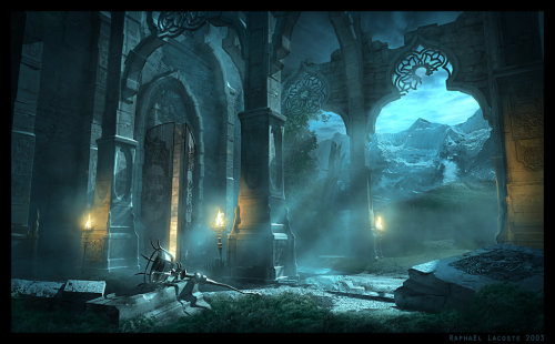 rememberedrealms:  Malik Shah's Sanctuary by Raphael Lacoste