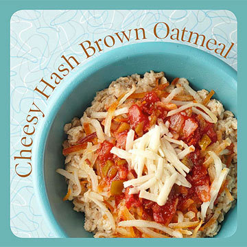 healthysexyhappy:  Knock out your fiber needs with cholesterol-lowering oatmeal! Just one serving of oatmeal (1/2 cup dry) has 2 grams of soluble fiber. According to the Mayo Clinic, 10 grams or more of soluble fiber daily decreases your total and LDL (bad) cholesterol. We've got tasty ways to get your day started right by enjoying high-fiber oatmeal. For each bowl, start with 1/2 cup of instant or dry oatmeal. Cook according to package directions, then add our delicious themed toppings. Pumpkin Pie Oatmeal You'll definitely love the pumpkin flavor in this sweet bowl of oatmeal.Ingredients: * 2 tablespoons fat-free vanilla yogurt* 1 tablespoon pumpkin butter * 1/8 teaspoon pumpkin pie spice Nutrition: 137 cal., 2 g total fat (1 g sat. fat), 0 mg chol., 44 mg sodium, 27 g carb., 2 g fiber, 4 g pro. Cheesy Hash Brown Oatmeal This recipe is a staff favorite! The oats blend right in with the hash browns for a south-of-the-border taste. Ingredients: * 1/4 cup cooked hash brown potatoes* 2 tablespoons shredded Monterey Jack cheese * 1 tablespoon salsa Nutrition: 244 cal., 11 g total fat (4 g sat. fat), 13 mg chol., 310 mg sodium, 29 g carb., 3 g fiber, 8 g pro. Tropical Coconut Oatmeal  Get whisked away to the tropics with a bet-you-never-tried-it combo of flavors in this oatmeal. Ingredients: * 1 tablespoon macadamia nuts, chopped * 2 tablespoons toasted, shredded coconut * 2 tablespoons dried pineapple Nutrition: 262 cal., 13 g total fat (6 g sat. fat), 0 mg chol., 54 mg sodium, 34 g carb., 4 g fiber, 5 g pro. Hot Cocoa Oatmeal  Think hot cocoa mix only goes a mug? We've re-envisioned it as an oatmeal topper. Ingredients: * 1 tablespoon instant hot cocoa mix* 2 tablespoons mini marshmallows Nutrition: 221 cal., 3 g total fat (1 g sat. fat), 0 mg chol., 156 mg sodium, 44 g carb., 3 g fiber, 5 g pro. Bacon & Salsa Oatmeal This oatmeal recipe proves that you can still enjoy bacon on a heart-healthy diet if you eat it in moderation. Ingredients: * 1 strip chopped, cooked bacon* 2 tablespoons reduced-fat cheddar cheese* 2 tablespoons diced tomato* 1 tablespoon sliced green onion Nutrition: 172 cal., 8 g total fat (3 g sat. fat), 17 mg chol., 295 mg sodium, 16 g carb., 2 g fiber, 10 g pro. Blueberry Nut Oatmeal  No pancakes here! Transition traditional flapjacktoppers into oatmeal flavor-boosters. Ingredients: * 1/4 cup blueberries * 1 tablespoon chopped walnuts * 1 tablespoon maple syrup Nutrition: 204 cal., 7 g total fat (1 g sat. fat), 0 mg chol., 7 mg sodium, 34 g carb., 3 g fiber, 4 g pro. Apple Crisp Oatmeal  Crisp apples, granola, and almonds put bite in your oatmeal bowl. Ingredients:* 1/2 cup chopped apple * 2 tablespoons low-fat granola * 1 tablespoon chopped almonds * 1/8 teaspoon apple pie spice Nutrition: 200 cal., 6 g total fat (1 g sat. fat), 0 mg chol., 40 mg sodium, 34 g carb., 5 g fiber, 6 g pro. Peanut Butter Cup Oatmeal A dab of peanut butter and a sprinkle of chocolate chips are all you need to jazz up your oatmeal. Ingredients:* 1 tablespoon creamy peanut butter * 1 tablespoon mini chocolate chips Nutrition: 257 cal., 14 g total fat (5 g sat. fat), 0 mg chol., 78 mg sodium, 27 g carb., 3 g fiber, 8 g pro. Turtle Sundae Oatmeal  Pure indulgence, this sweet treat hardly seems like another boring oatmeal breakfast. Ingredients:* 1/4 cup fat-free whipped dessert topping * 2 tablespoons pecans * 1 tablespoon sugar-free caramel dessert topping Nutrition: 252 cal., 12 g total fat (1 g sat. fat), 0 mg chol., 45 mg sodium, 34 g carb., 3 g fiber, 4 g pro. Trail Mix Oatmeal Bring trail mix to your breakfast table by tossing the grab-and-go bits on your oatmeal. Ingredients:* 2 tablespoons mix dried fruit bits* 2 tablespoons dry-roasted mixed nuts * 1 tablespoon flaxseed Nutrition: 276 cal., 14 g total fat (2 g sat. fat), 0 mg chol., 18 mg sodium, 33 g carb., 6 g fiber, 8 g pro. Can't get enough oats? Read on for even morerecipes that use this heart-smart whole grain.