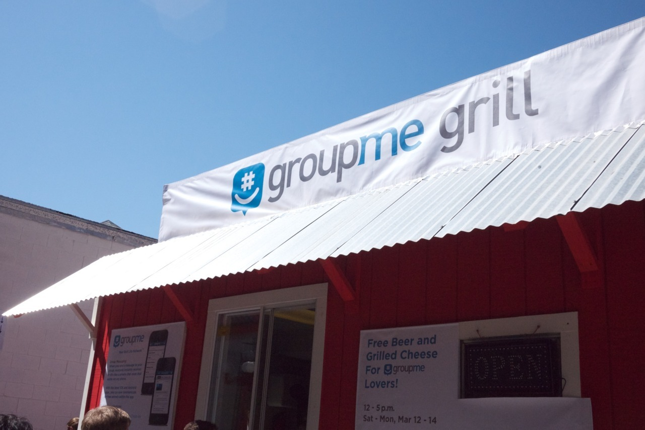 GroupMe at SXSW That's right—Team GroupMe is headed back to Austin next week for another awesome weekend at SXSW Interactive. We've got so much to share with everyone so without further ado, here's a few announcements about what we're planning this year: Start your SXSW group now! If you were at SXSW last year, you already know that GroupMe is the perfect way to stay in touch with your crew on the ground in Austin. It's that time again—start your group now to help you start planning, and you can keep using it to share notes on the best parties, events, and happenings when you're hanging out in Austin next week. Plus, if you start your group on our special SXSW featured page, or from the Featured tab in the app, you'll receive some exclusive info and updates in your group, and you'll also be entered to win VIP tickets to our party. More on that later. #)  Major Rager Part Deux The Major Rager is back. Last year, we had a really fun time at Cedar Street Courtyard, celebrating the end of a great weekend. This year, we're pumping up the volume for an even bigger party.  The party is co-sponsored by Serve from American Express, and features DJ sets from The Hood Internet, Nancy Whang (of LCD Soundsystem), and COMA (Kompakt Records, Ger) in their U.S. premiere. It's going to be amazing. RSVP here. GroupMe Grill It's back, and better than ever! GroupMe users can hang out, eat free grilled cheese, and drink free beer at the GroupMe Grill, right across from the convention center. It's on Trinity and 3rd, and we'll be there from 12-5 p.m. on March 10-12. Come by! We can't wait to see you. Lots of improvements from last year, and maybe a few surprises, are in store…  We've got more to announce very soon—stay tuned! In the meantime, start your group and we'll see you in Austin!