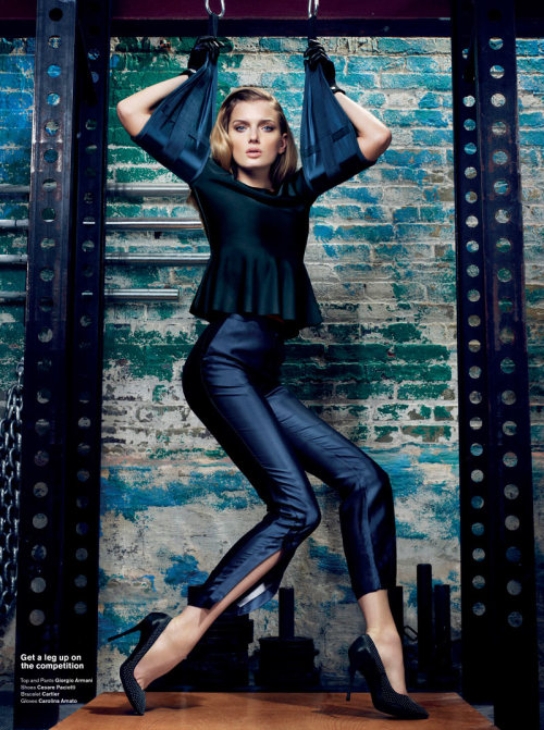 mirnah:  Lily Donaldson hits the gym in Sharif Hamza's high gloss story shot for V Magazine #76. Garbed in minimalist chic looks selected by fashion editor Tom Van Dorpe, Lily pumps some iron in the designs of Burberry Prorsum, Lanvin, Dior, Giorgio Armani and others.