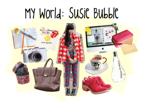 Pop into the jet-set life of Teen Vogue fave Susie Bubble. Peek into a day in the life of this quirky-cool fashion blogger »