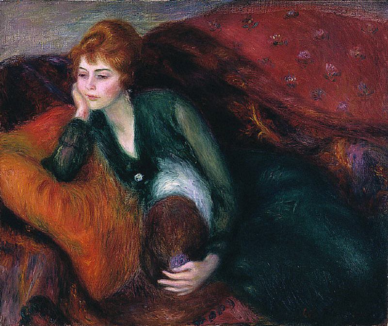 William Glackens: Young Woman in Green, 1915