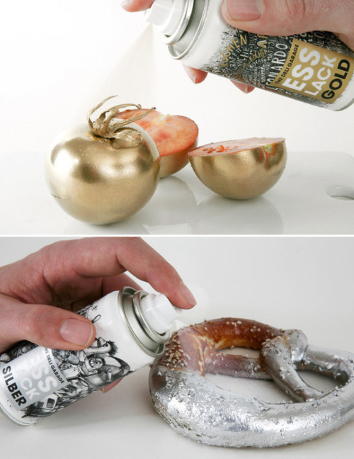 this is genius: edible spray paint. why didn't I think of this! christmas desserts will never be the same again.