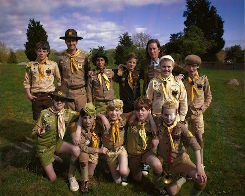 Wes, Edward Norton, and Boy Scouts.