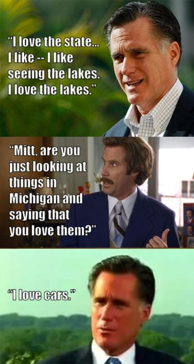 #mittromney vs. #anchorman #lol It's so true