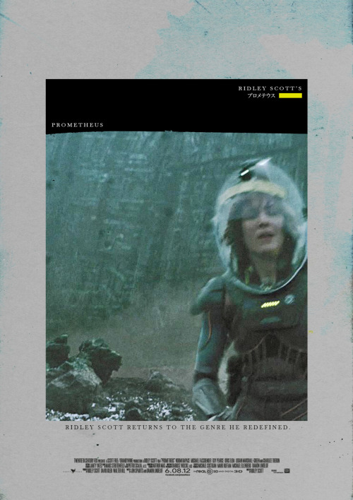 fuckyeahmovieposters:  Prometheus by Midnight Marauder  This guy's movie Posters are amazing. So is his screen name.
