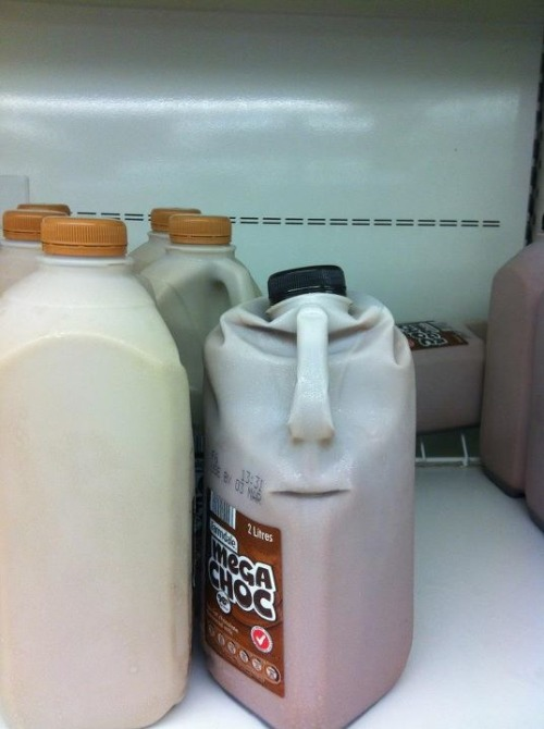 lolsofunny:  imagine if u were really high at 7/11 and you saw a frickin face on the chocolate milk jug, id start whispering to it