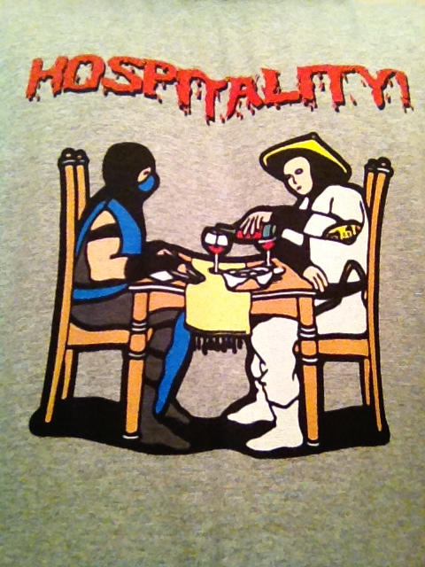 Giggles…I designed this shirt (For MK fans)