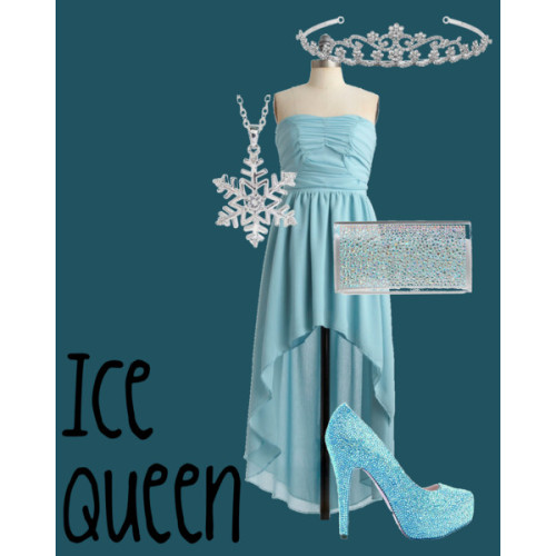 Ice Queen by jessb93 featuring snowflake jewelry