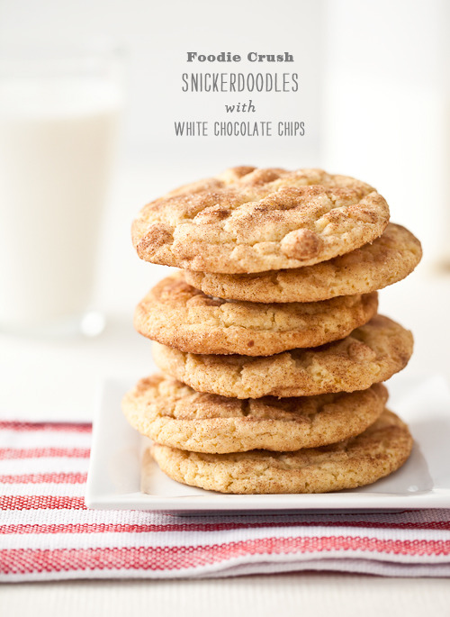 Snickerdoodles with white chocolate chips