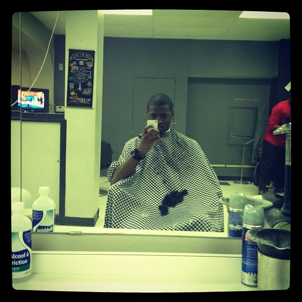 Cutting my hair (Taken with instagram)