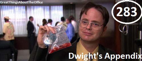 Great Things About The Office - #283 - Dwight's Appendix