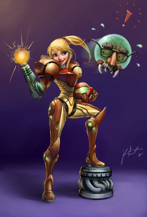 Cartoon - Samus Aran - by Felipe Kimio K. de Araújo Blog || DeviantART