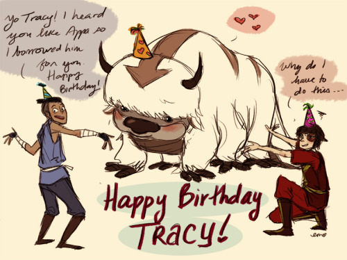 today was a good friend's bday and i drew her this she LOVES APPA SO MUCH (and sokka and zuko)