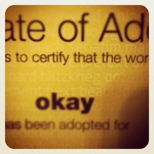 Adopted (Taken with instagram)