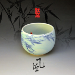 "Koi Tea Bowl ""Wind"" by Mochi Liu"