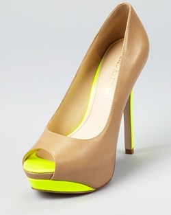 rockspapermetal:  love the neon neutral pumps