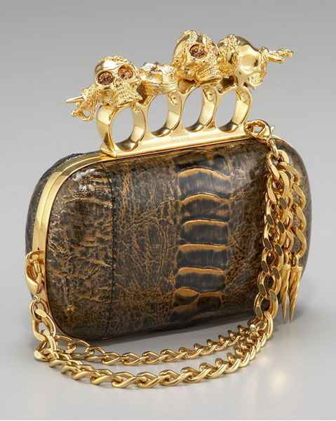 Alexander McQueen brass knuckle clutch