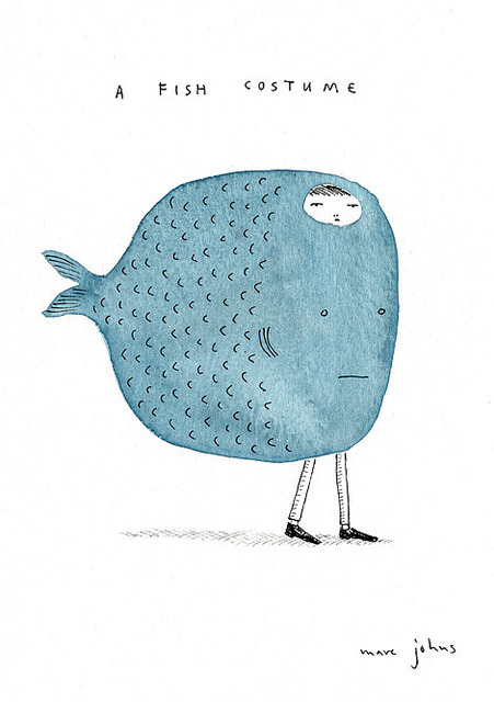 mortuum:  a fish costume by Marc Johns on Flickr.