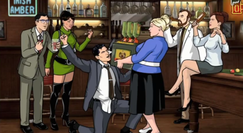 Archer open thread with Animation Director Bryan Fordney starts in ten! Come join us for Jager machine shots in Fort Kickass!