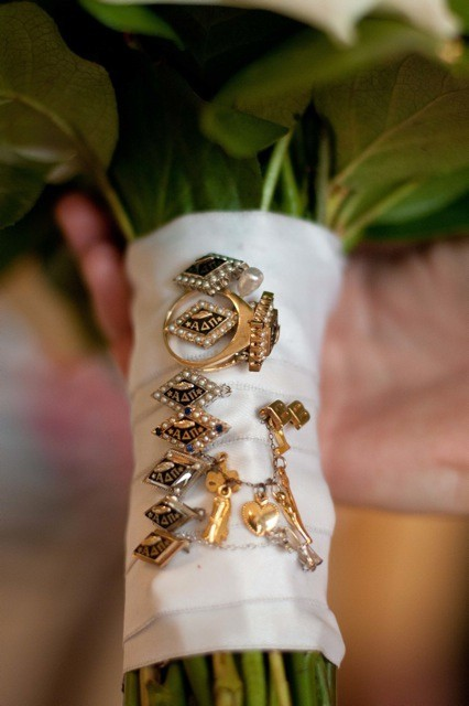 """Something Borrowed"": Sorority sisters' pins."