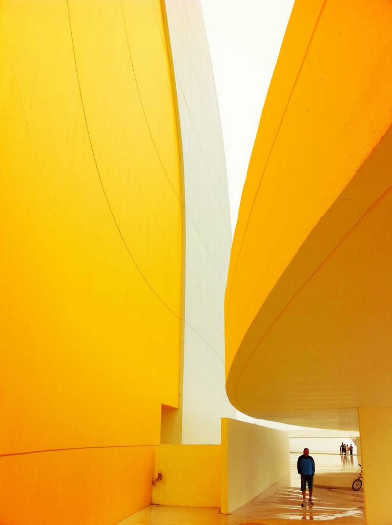 ninbra:  Yellow Curves. Niemeyer Center, Avilés, Asturias, Spain.