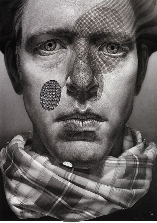 "ssdmmfr:  Artist: Ian Ingram ""The All Most"" Charcoal, Ink, Beeswax, String, and Silver Leaf, 54"" x 39"" Inches, 137.2 cm x 99.1 cm, 2009"