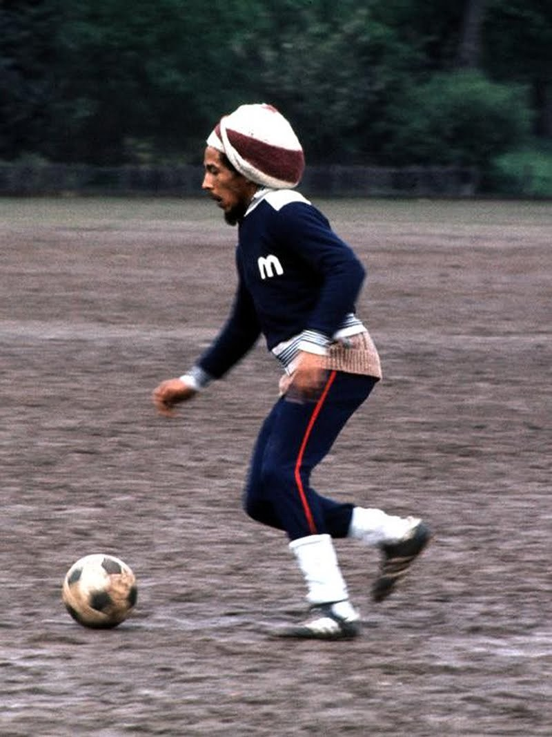 My two favorite things…Bob Marley and soccer
