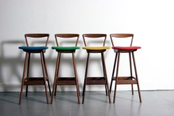 Bar stools design by Henry Rosengren Hansen for Brandt Mobelfabrik
