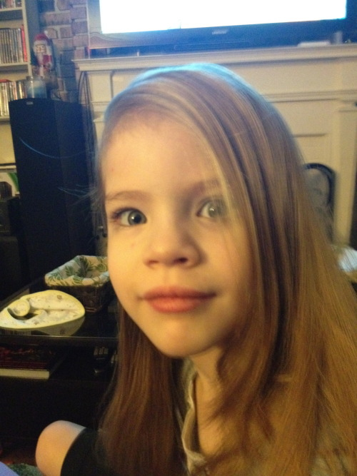 annacadaverous:  metalintheflesh:  This is my youngest daughter, Ava.  I felt that I needed to share the conversation she and I had after a school field trip today. Ava: Mommy, we saw Princesses skating on the ice!! Me: Wow!!  Did you have fun? Ava: Yeah, but there is a best part!! Me: What was it? Ava: We got to meet the Princesses and I asked Snow White if she had a boyfriend. Me: (Laughing) Did you?  What did she say? Ava: She said she did and then she asked me if I had one!! And I said I had one, but I didn't like him any more.   Me: Oh.  Well, how come you don't like him anymore? Ava: Because I like my other friend now and then I got scared and asked her if I could still be a princess and she asked why so I told her that my friend I like is a girl and I want to have a girlfriend. Me: (a bit surprised) Oh.  Ok, well what did she tell you? Ava: That's the best part!  She said that as long as I have love I already AM a Princess!! <3  THIS IS THE WORLD I WANT TO LIVE IN. <3