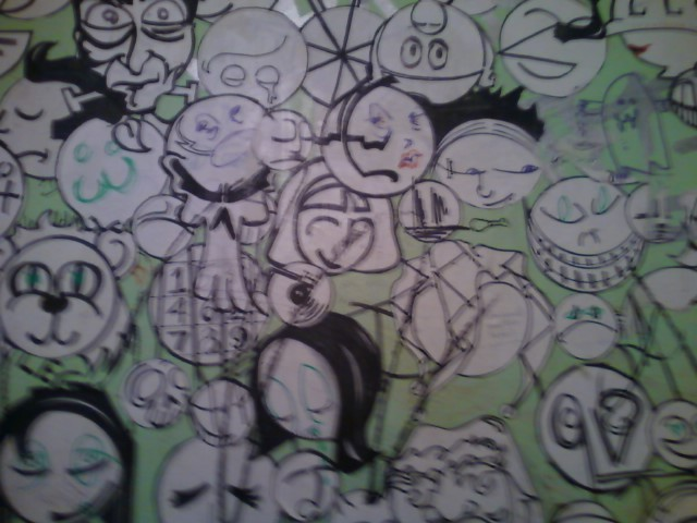"Very blurry, but on the walls of ""The righteous Room"". Bar, Atlanta off Ponce."