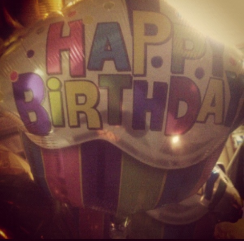 macdaddyalyssa:  Went to the store to buy best friend balloons for his birthday tmr!