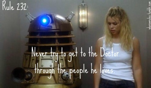 Rule 232: Never try to get to the Doctor through the people he loves. Submission! [Image Credit]