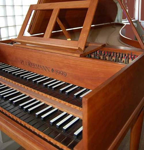 "Another double-manual German harpsichord. Valued at $25k. I've been considering purchasing a harpsichord (though probably single-manual, and possibly Flemish) instead of upgrading my piano. But still, my piano really does need an upgrade if I'm going to teach on it. It's a 4'11"" Yamaha—the smallest grand available. Honestly, I love it and am extremely grateful that my parents purchased it for my for my 16th birthday (as opposed to a car—duh!) But there's a register in which it's very weak due to the shortened string length. As a perfectionist, it bothers me. It'll be awhile until either purchase is made, so I have time to decide. The piano would probably be the best choice, but harpsichord is my favorite instrument, so that makes the decision difficult."