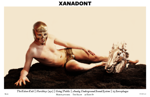 """XANADONT Poster"" Color Print on Metallic Cardstock 11 x 17"" 2012 $5"