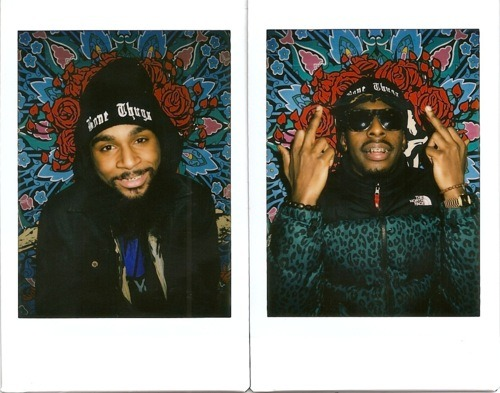 """humbleflex:  Flatbush Zombies -from (assuming) Flatbush, Brooklyn, NY. Heavily supported by Lifestyle and Music Blog """"The Madbury Club"""". Cosigned by Childish Gambino and Lana Del Rey. Admittedly, I know only a little about the burgeoning rap group, Flatbush Zombies, and I think that's what they intended. With their debut music video """"Thug Waffle"""" dropping out of the blue on January 4th, they've been able to churn up conversation on blogs like Illroots and have even showed up on Complex andFader's websites. As for what they sound like, one half of the duo, Meechy Darco, draws comparisons to a young ODB. The other half of the group, Zombie Juice (or Barnacle Bartholomew as he goes by on twitter) looks like, and I'm quoting a youtube comment, """"Chris Brown with a beard…"""" but raps a million times better. If this is what the new New York rap scene is like, then I like where it's going. A lot. More rappers need to be as original (if not weird) as these guys. They just need to put out more than 5 or so songs. *Edit, click this link for the only INTERVIEW I know of."""