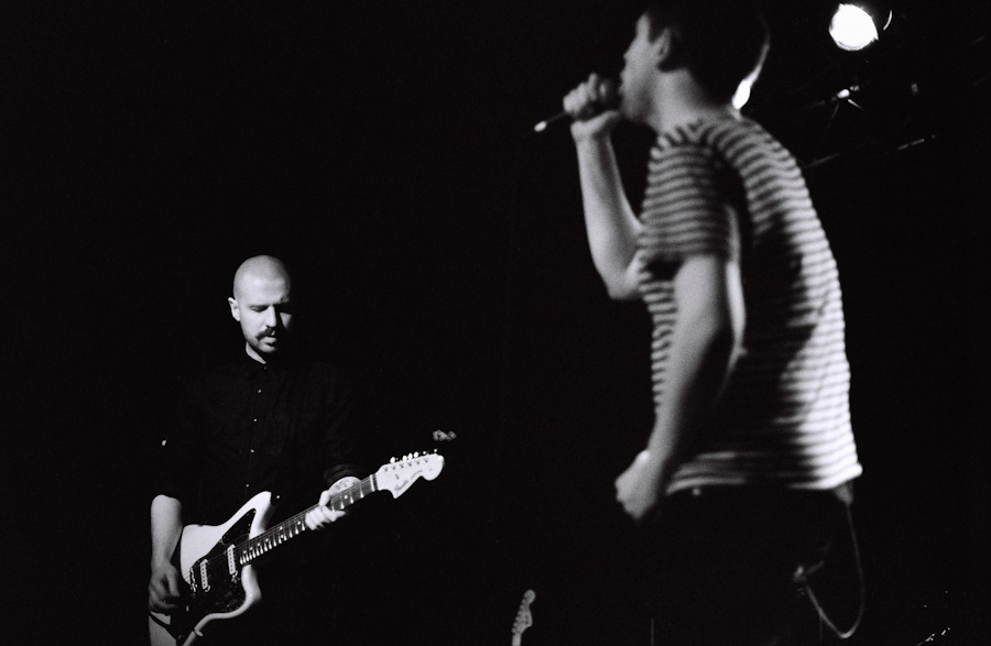 Andy MacFarlane and James Graham of The Twilight Sad, Brighton Music Hall, Boston. February 26, 2012. Shot on Kodak Tri-X 400. © Dominick Mastrangelo