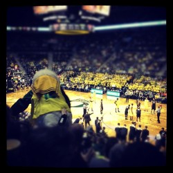 me and dad at the game #goducks (Taken with instagram)