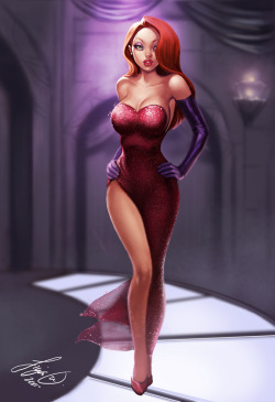 ladies-in-little-to-no-clothing:  Jessica Rabbit by Siya Oum
