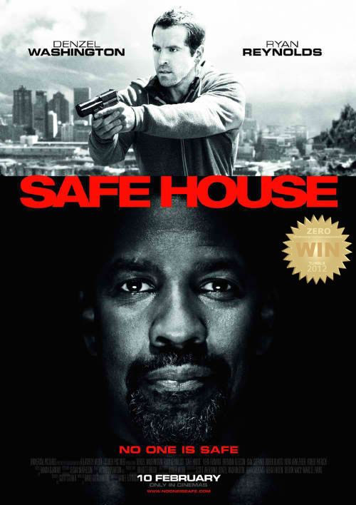 "Safe House (2012) A young CIA agent is tasked with looking after a fugitive in a safe house. But when the safe house is attacked, he finds himself on the run with his charge. A decent and mildly-impressive film by Daniel Espinosa.  Guns, hidden agendas, backstabbing and then some… the usual conspiracy game played out in a chase. Africa! (south) CIA's most wanted Denzel ""sexual chocolate"" Washington and (weakie rookie) Ryan ""abs"" Reynolds fight and entertain us with what they got. The usual, which was really tiresome to see. Don't get me wrong, the acting was good with two amazing lead actors… it was cool… too cool… plot twist! yeah, again. I LOVE Vera Farmiga. and the other overshadowed actors: Sam Shephard, Brendan Gleeson, and ""have you seen this boy?"" Robert Patrick. The action and scenery was brilliant. And the story ""he's good, no he's bad, no he's good, Awww he's bad again?"". The film lacked that hook of originality (gimmick) that would have stuck in my head.  Imitated and duplicated, executed better than most in the genre. A Sunday flick you can watch with dad. DEN-ZEL."