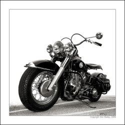 """Pan America II"" vintage Harley-Davidson panhead motorcycle shot during bike night at Top Gun in Denver, Colorado - Copyright Don Bailey, 2009 by Don Bailey on Flickr."