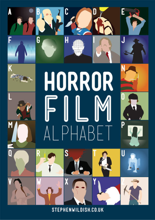 stephenwildish:  Friday Project - The Horror Film Alphabet